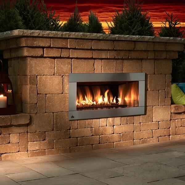 Flagstaff Arizona Contemporary Fireplace Blocklite