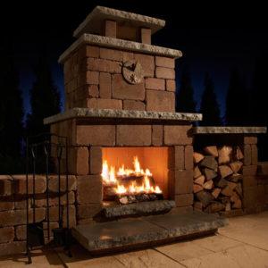 Flagstaff Arizona Compact Fireplace Block Lite