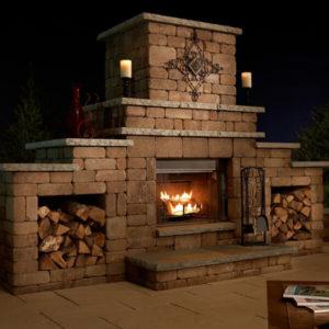 Flagstaff Arizona Grand Fireplace Block Lite
